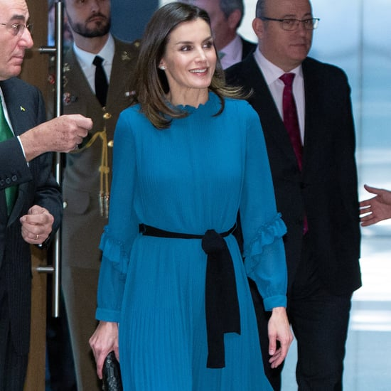 Queen Letizia's Blue Zara Jumpsuit January 2019