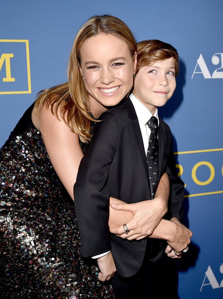 Brie Larson hugged her adorable Room costar, Jacob Tremblay, at the film's LA premiere in October 2015.