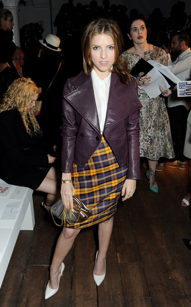 Anna Kendrick Wore A Plaid Skirt To The Vivienne Westwood