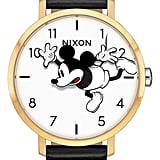 Nixon x Disney Arrow Mickey Leather Strap Watch