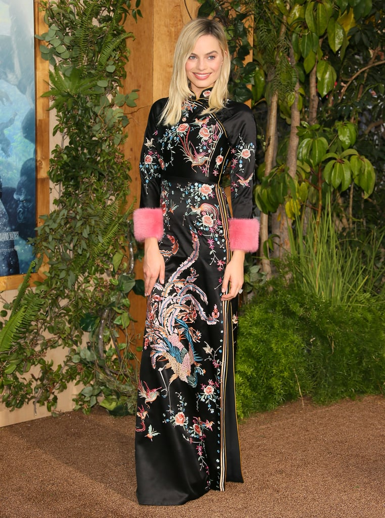 Wearing a Gucci gown and pumps at the Hollywood premiere of The Legend of Tarzan.