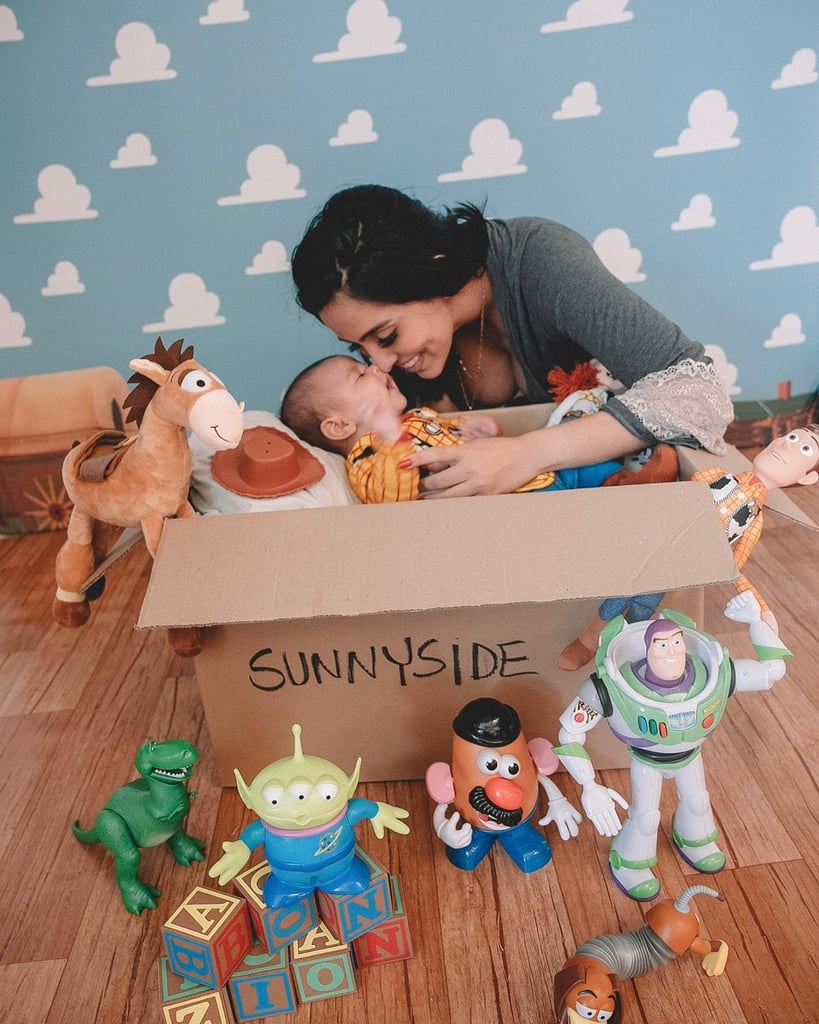 Zion Dressed as Woody in a Sunnyside Box