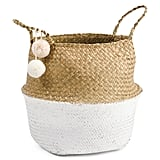 Natural Dipped Bottom Storage Basket