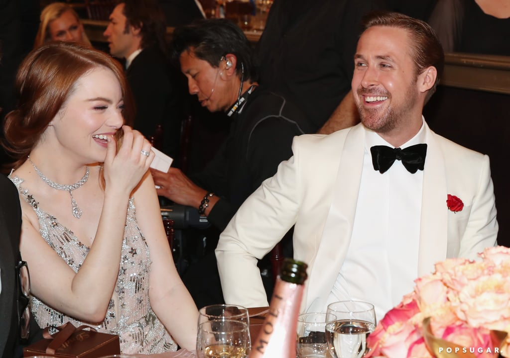 Ryan Gosling and Emma Stone got the giggles.