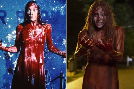 Carrie White Sissy Spacek wasn't even considered for the role of Carrie White at first (she was 27 at the time of the filming), but she won the part with the persuasion of her husband, who served as the film's art director. At 16 years old, Chlöe Moretz is age appropriate, but she's got some big, bloody shoes to fill. Source: United Artists and Sony Pictures