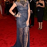 Heidi Klum looked classic in Escada.