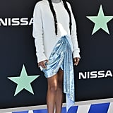 Yara Shahidi Blue Skirt at the BET Awards 2019