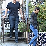 Cory Monteith and Lea Michele ate lunch.