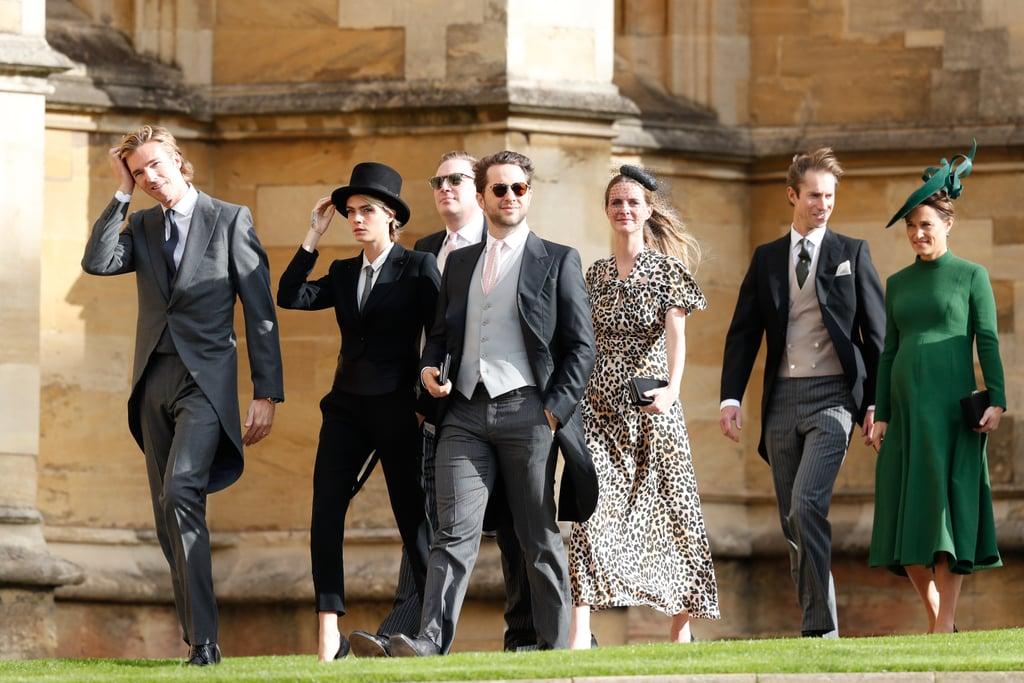 Cara Delevingne Suit at Princess Eugenie's Wedding 2018