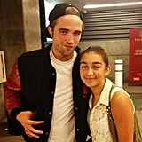 Robert Pattinson greeted a fan at Beyoncé Knowles's LA concert. See which other stars flocked to the Staples Center for Beyoncé's show. Source: honugirl88