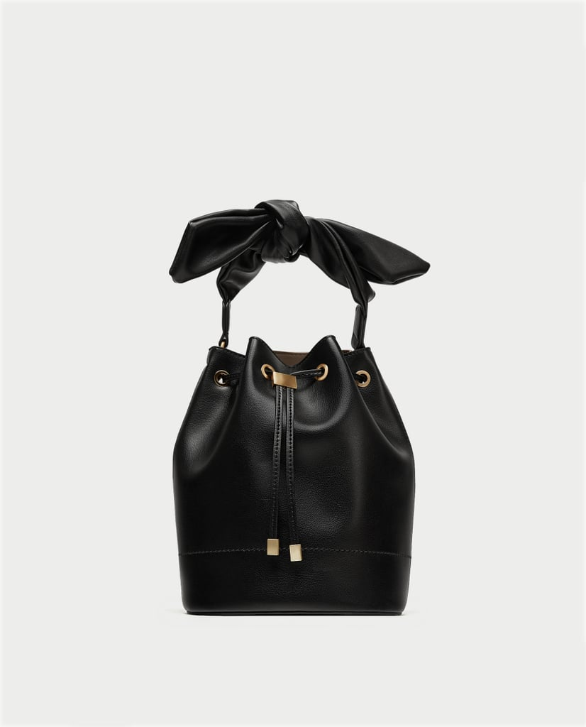 5116bdd51e0 Zara Bucket Bag With Knot | Best Handbag Gifts | POPSUGAR Fashion ...