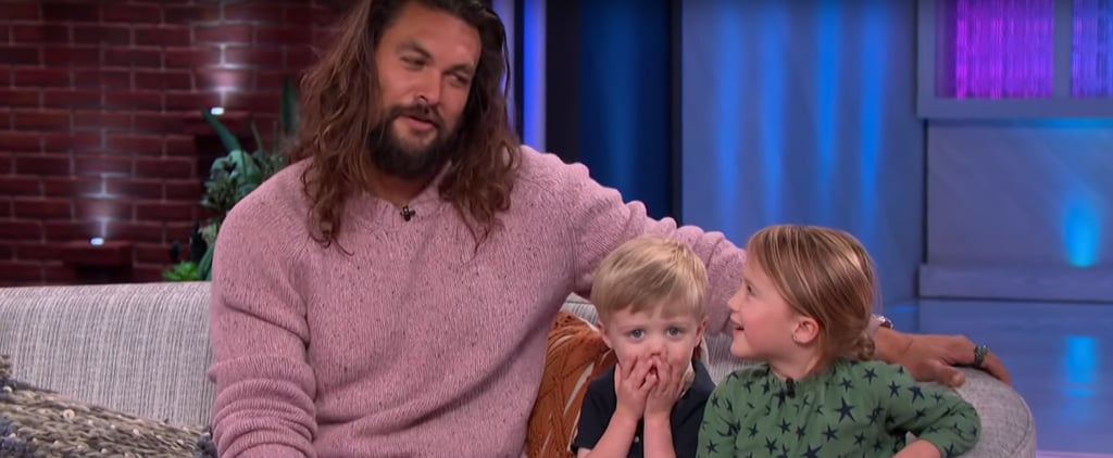 Watch Kelly Clarkson's Kids Ask Jason Momoa About Aquaman
