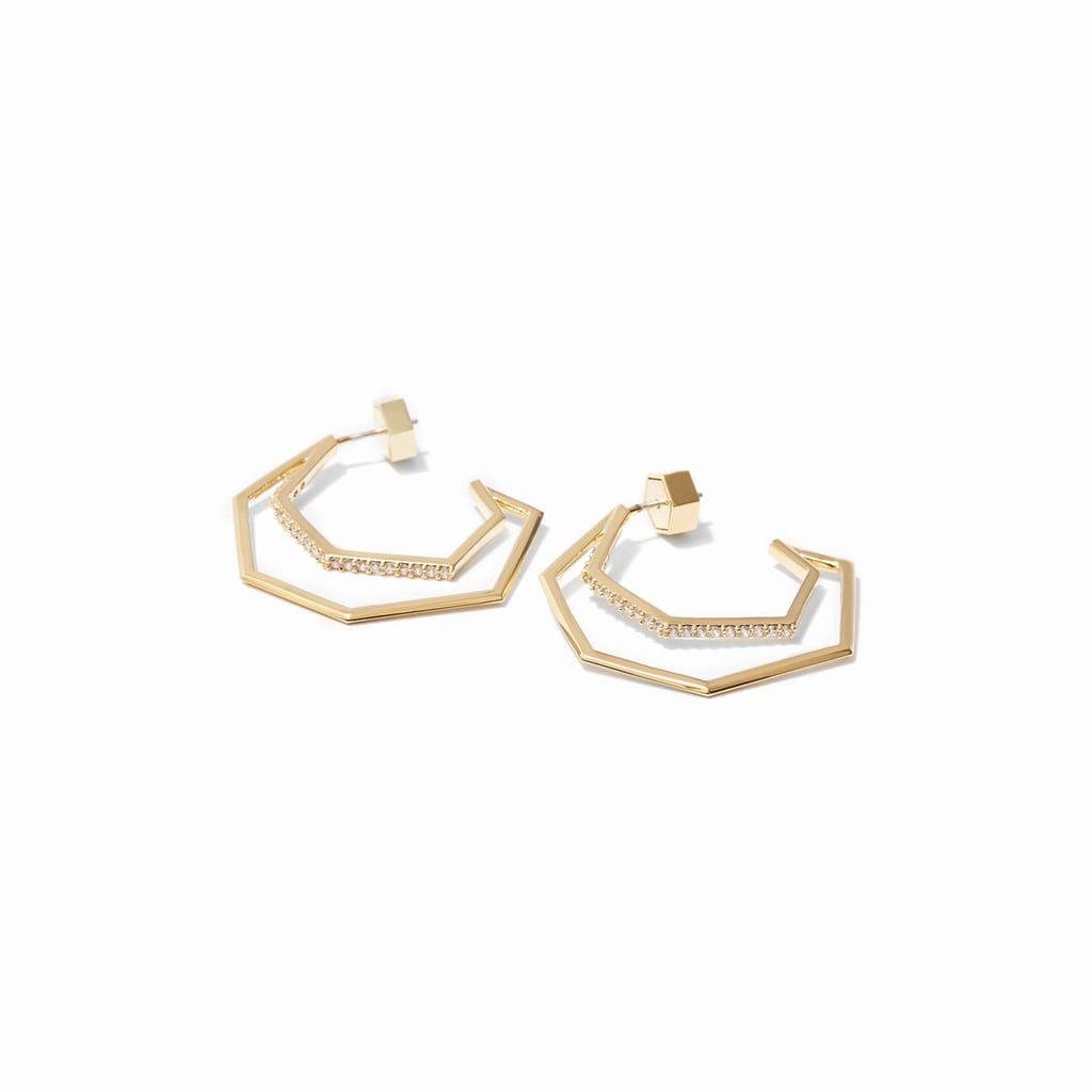 These Via Savienne Hoop Earrings ($175) offer a geometric take on the circle game — the perfect mashup.
