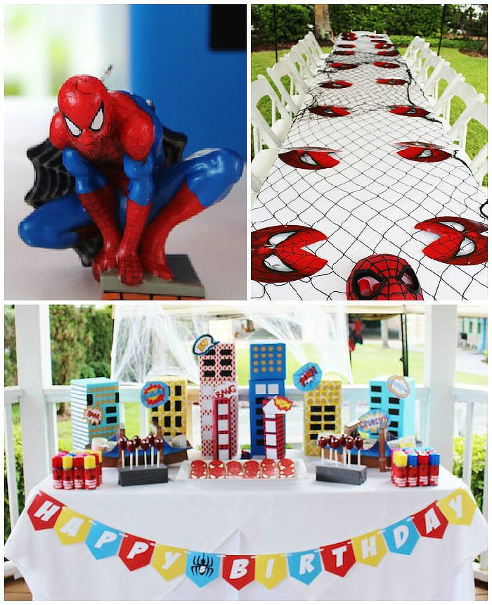 Spider-Man-Themed Birthday Party Fit For A Superhero