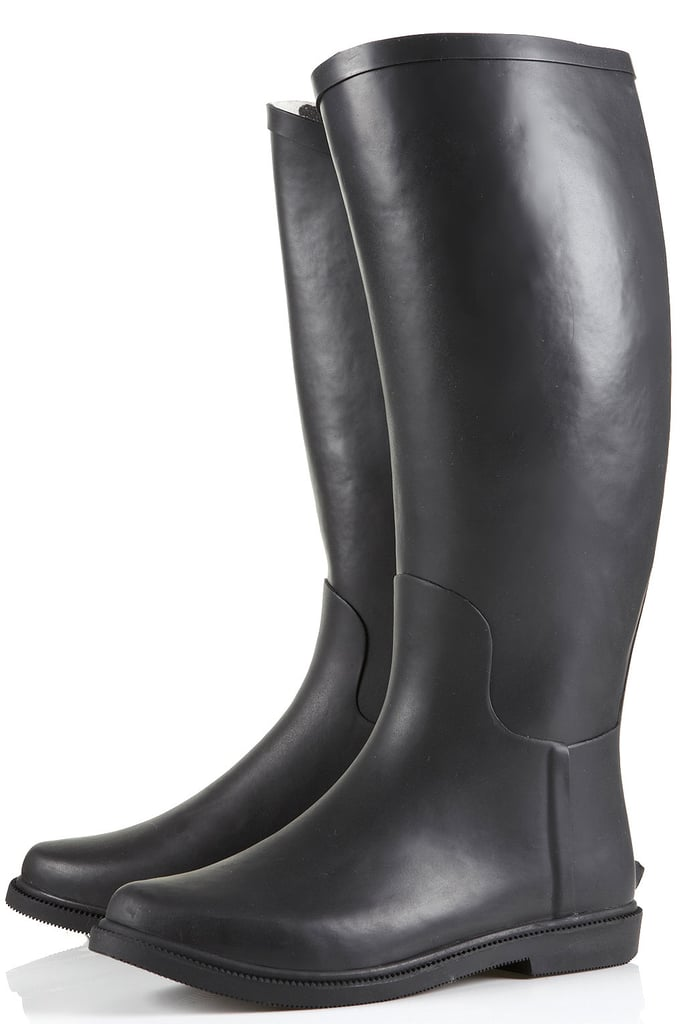 They may not be snowproof, but these Topshop Dandy Riding Wellies ($66) will keep your feet dry in the rain. Not to mention, the no-frills, slim cut of the boot will allow for minimal jean bunching up (you know what we're talking about).