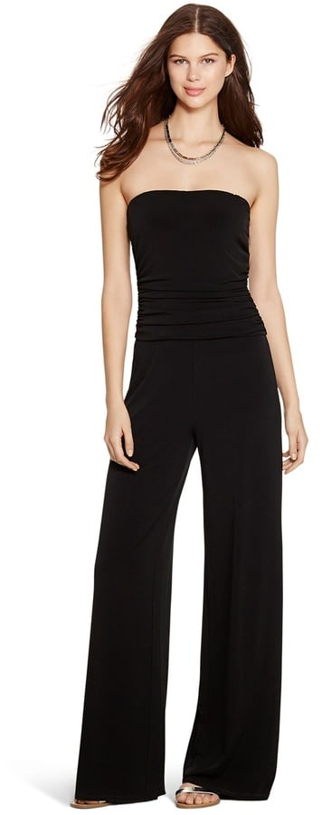 White House Black Market Strapless Wide Leg Black Jumpsuit ($130 ...