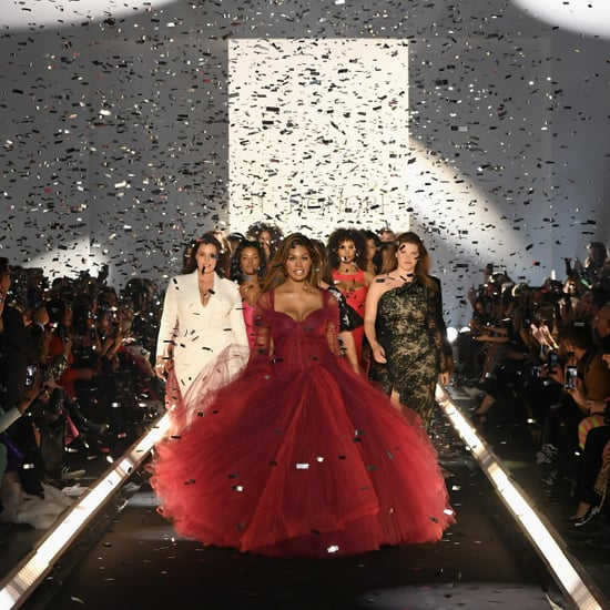 Laverne Cox's Zac Posen Dress on 11 Honouré Runway Feb. 2019