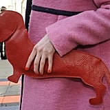 Woof! How adorable is this Dachshund clutch?