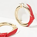 Leather Wrapped Tube Hoops by Artizan Joyeria