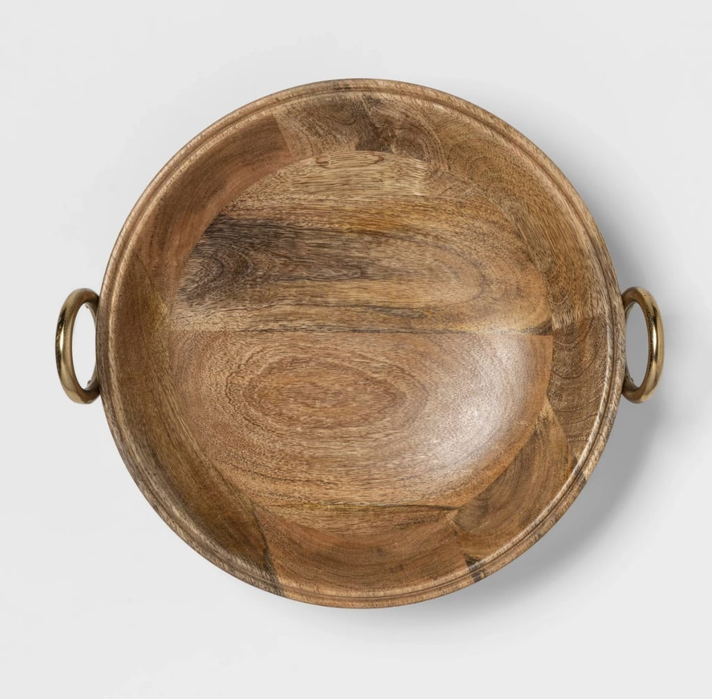 (New) Cravings by Chrissy Teigen Round Bowl With Aluminum Gold Handles