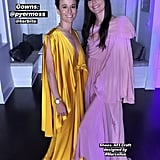 The couple switched to evening wear and stunned in draped Pyer Moss gowns designed by Haitian-American designer Kerby Jean-Raymond.