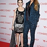 """She's clearly heads above her A Simple Favour costar Anna Kendrick. (Kendrick is 5'2"""", for context.)"""