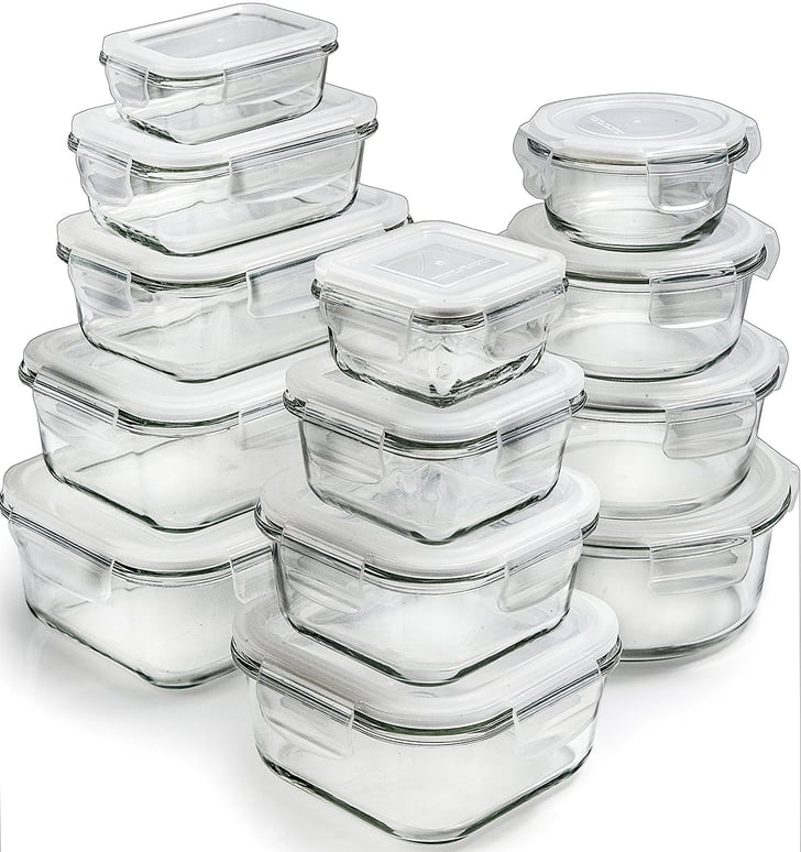 glass storage containers with lids meal prep products from amazon popsugar fitness middle. Black Bedroom Furniture Sets. Home Design Ideas