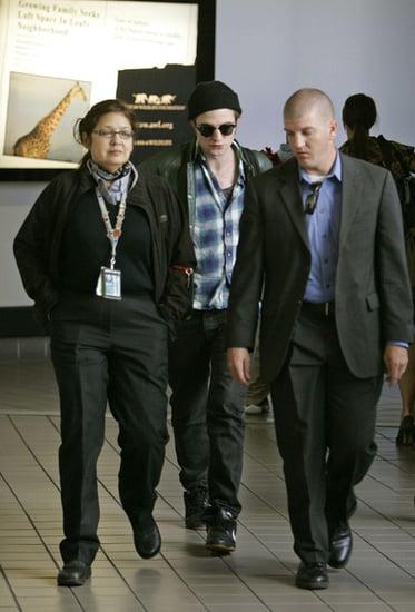 Robert Pattinson arrives at LAX