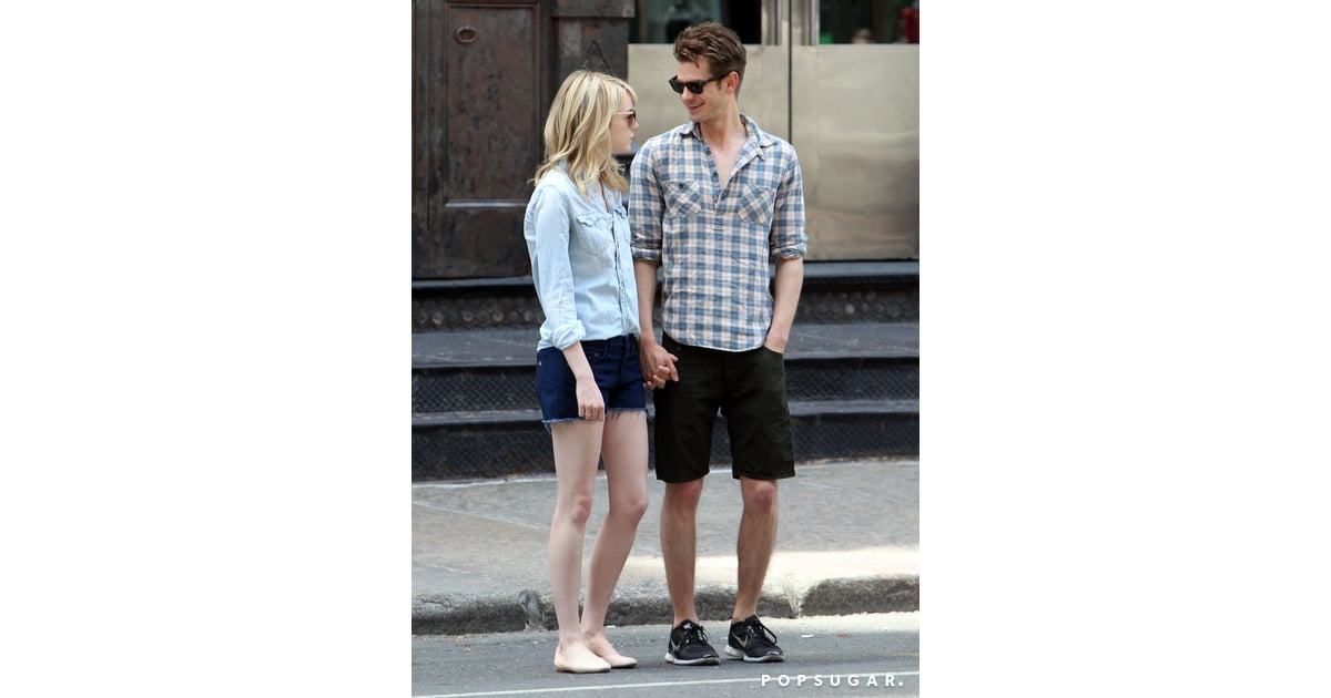 Andrew Garfield Kept His Eyes On Emma Stone Andrew Garfield And Emma Stone Walk Hand In Hand Into The Weekend Popsugar Celebrity Photo 7