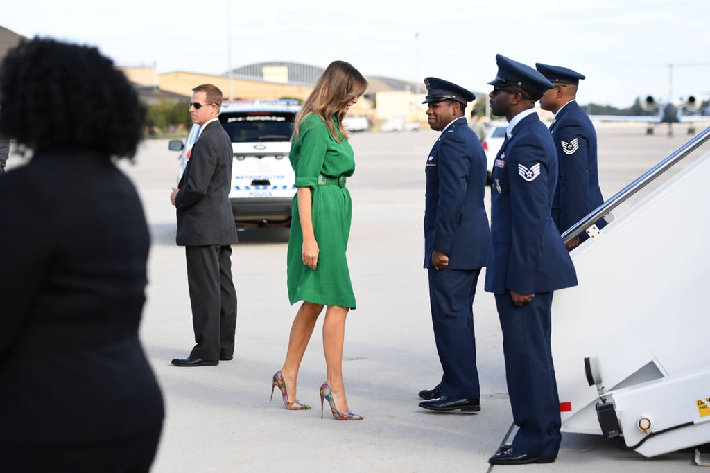 Melania Trump's Dress Will Hold Your Attention, but Her Heels Will Keep Your Eyes Wide Open
