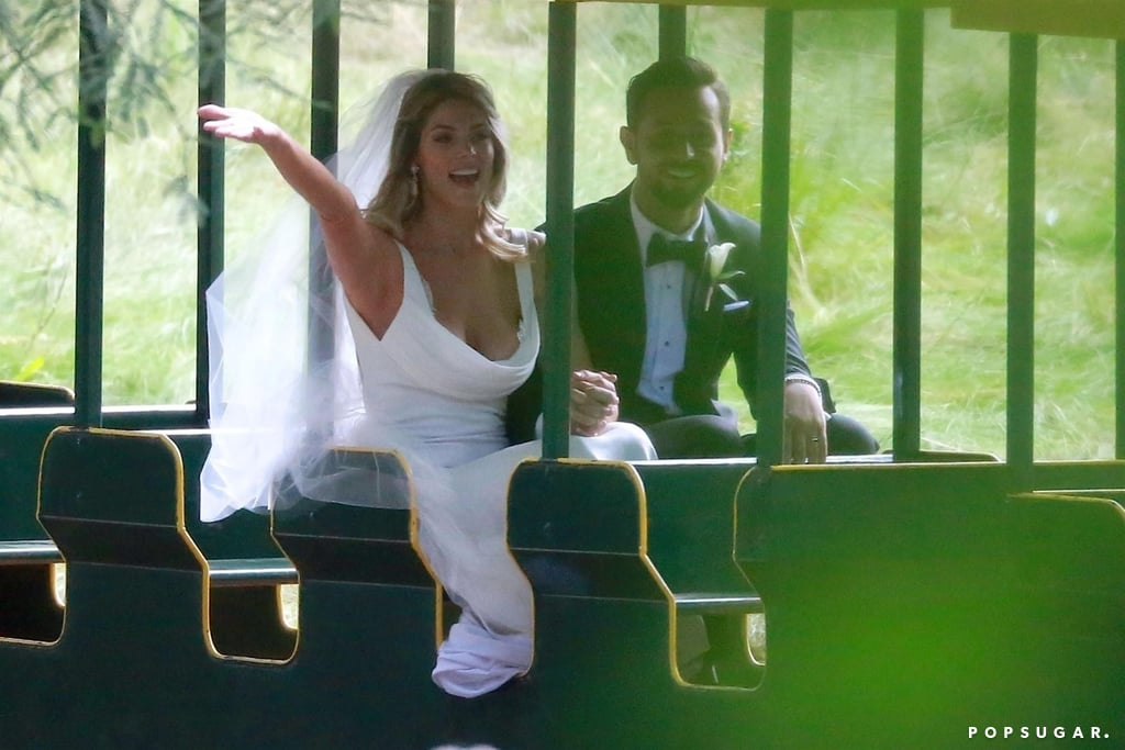 Congrats are in order for Ashley Greene and Paul Khoury — the couple tied the knot on July 6 in an outdoor ceremony in San Jose, CA, surrounded by family and friends, and judging by the photos, it looked like so much fun. Guests such as Eiza González, Josh Duhamel, Evan Ross, Lauren and Aaron Paul, and Brittany Snow, had the opportunity to sip martinis, play games (life-size Jenga, anyone?), and mingle with a pony. How cute!  Ashley and Paul got engaged back in December 2016 on a trip to New Zealand and they looked absolutely blissful when they made things official. The bride absolutely glowed in her wedding dress, chatting with guests and posing for pictures. Ahead, see snaps from their magical celebration, and gather some wedding inspiration for any nuptials in your future.
