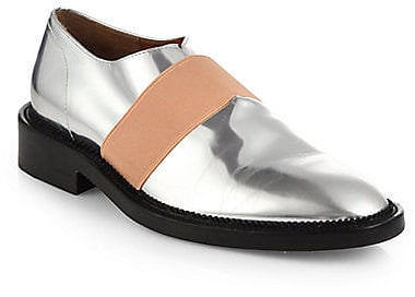 Givenchy metallic leather oxfords ($695) could easily be the centerpiece of any outfit.