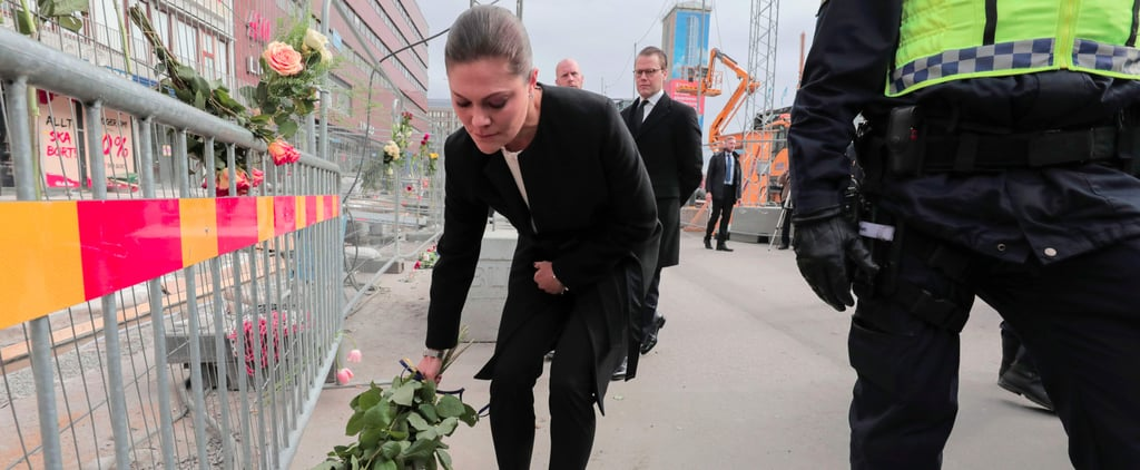 Princess Victoria Fights Back Tears While Visiting Stockholm Attack Site