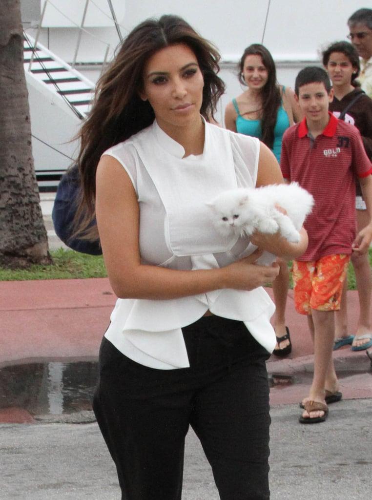 Kim Kardashian took a walk with Mercy.