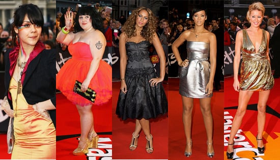 Brits Awards 2008: Women's Red Carpet Outfits