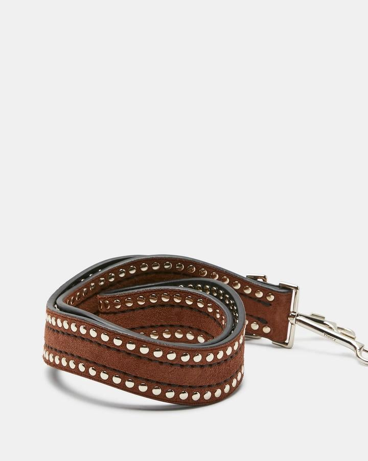 Theory Suede Wavy Rivet Strap