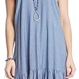 Karen Kane Chambray Ruffle Hem Slip Dress ($118)