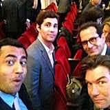Kal Penn, Chris Smith, Tony Shalhoub, and Jerry O'Connell did some promotion for their new CBS show, We Are Men. Source: Twitter user kalpenn