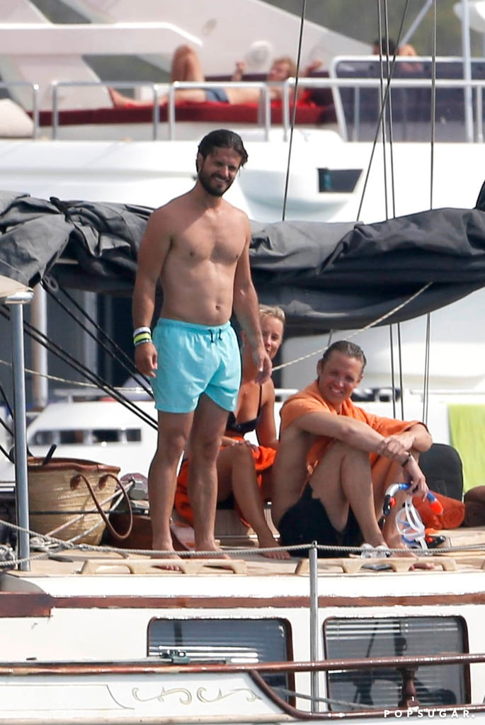 Prince Carl Philip of Sweden and his fiancée, model Sofia Hellqvist, soaked up the Summer sun with their friends off the coast of Ibiza, Spain, on Monday. The shirtless royal was all smiles before jumping off the yacht to go snorkeling with his other half, who sported a blue bikini for the group's day on the water. It marked yet another one of Prince Carl Philip's hottest moments, and his name will continue to make headlines as he and Sofia prepare to tie the knot next Summer. The 35-year-old prince is third in line to the Scandinavian throne after his sister Victoria and his adorable niece, Estelle. Take a look at all the sexy, shirtless snaps of Prince Carl Philip's Ibiza outing!