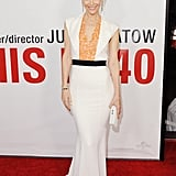 Leslie Mann celebrated the premiere of This Is 40 in a curve-conscious Vionnet number.