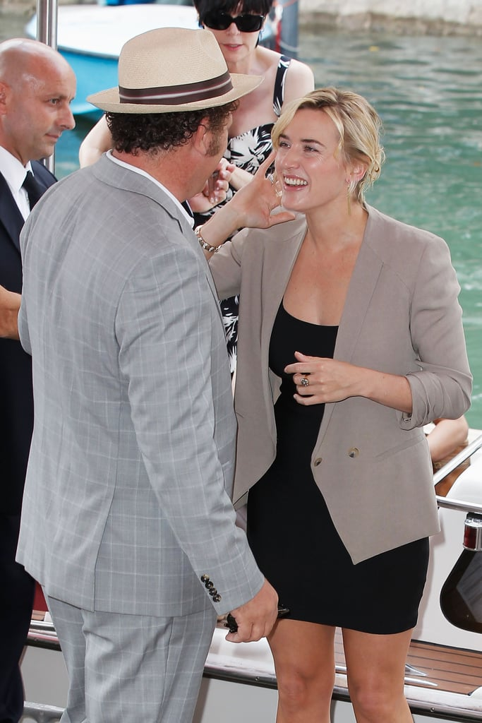 John C. Reilly with Carnage costar Kate Winslet.