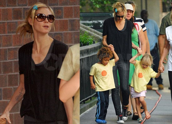 Photos of Heidi Klum With Leni, Henry, and Johan in NYC