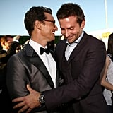 Matthew shared a moment with Bradley Cooper.