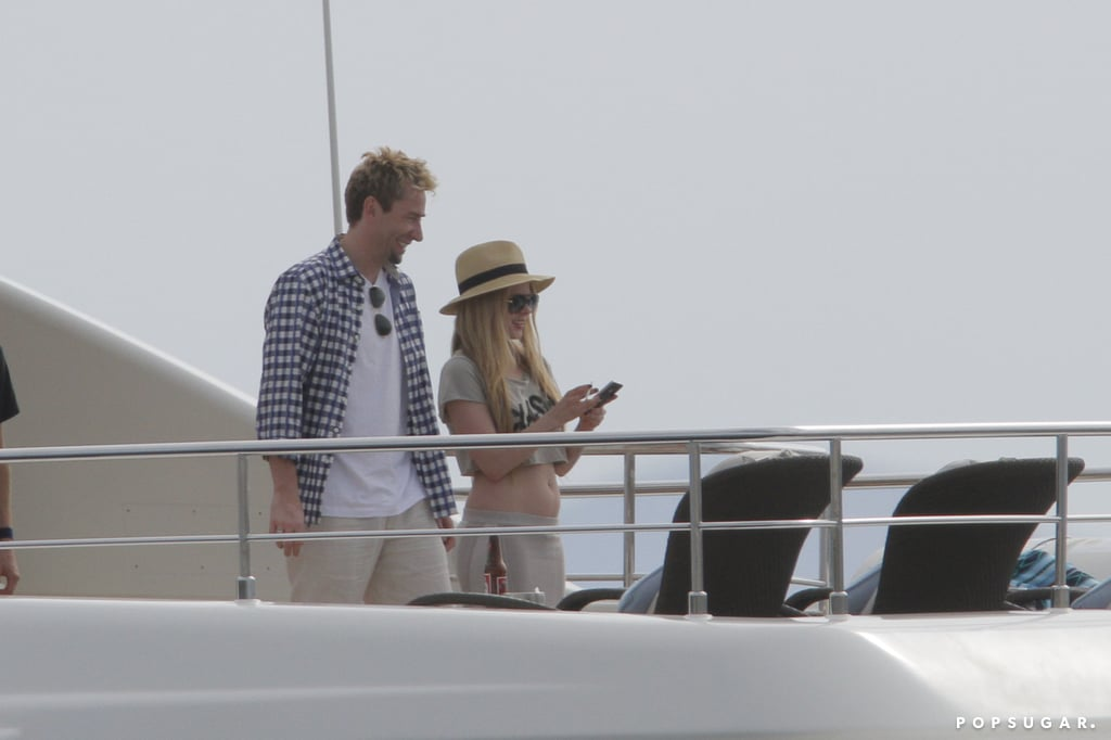 Avril Lavigne and Chad Kroeger enjoyed the sights.