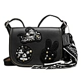 Mickey Mouse Patch Patricia Leather Saddle Bag by Coach — Black ($280)
