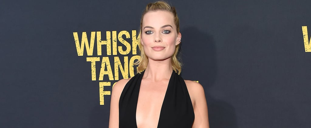 Margot Robbie Black Valentino Jumpsuit