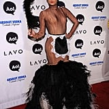 I'm still trying to figure out what Christian Siriano's costume is — he's a feather duster, right? Or is he Liza Minnelli?