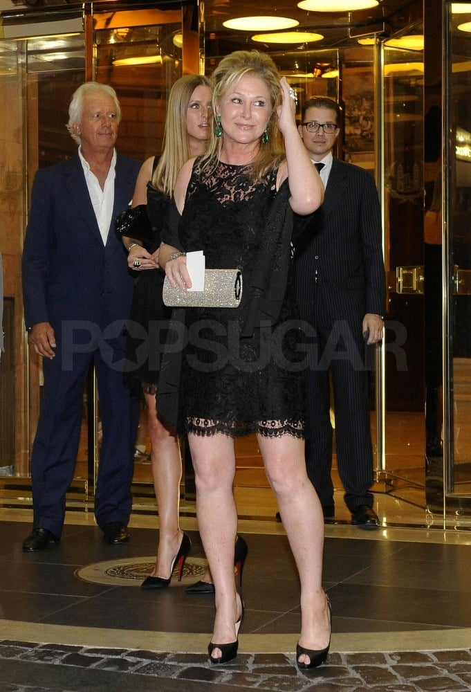 Kathy Hilton joined her daughters for the night.