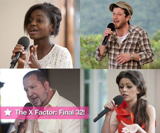 Pictures of The X Factor Final 32 Acts Through to Judges' Houses Including Girls, Boys, Groups and Overs Categories