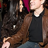 Matt held hands with his Valentine's Day date, Lucy.